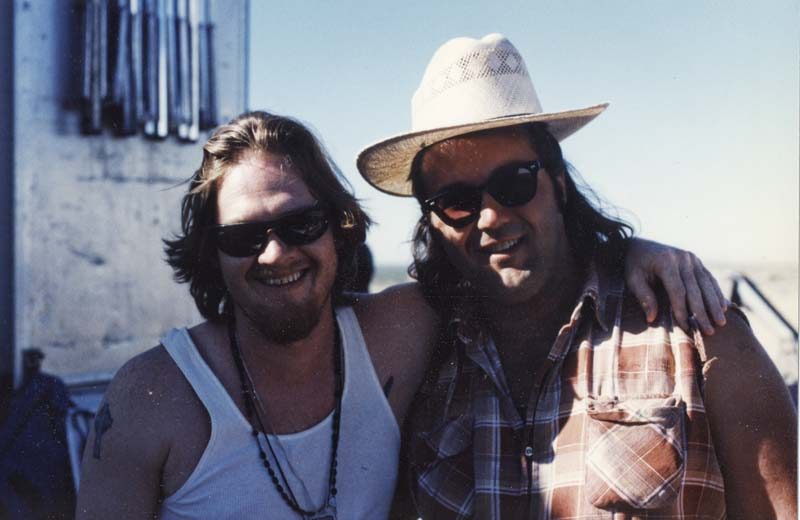 On the set of Baja with Donal Loque