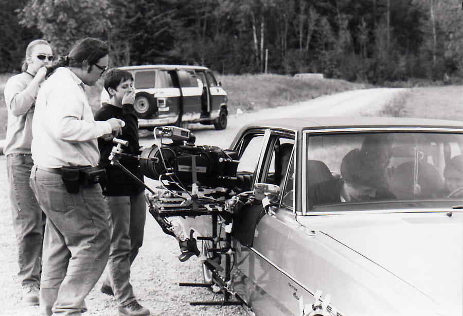 Shooting driving shots in Seattle for the film Just What's Out There