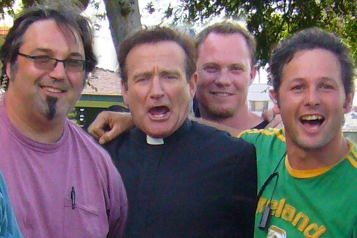 with Robin Williams on the set of License To Wed