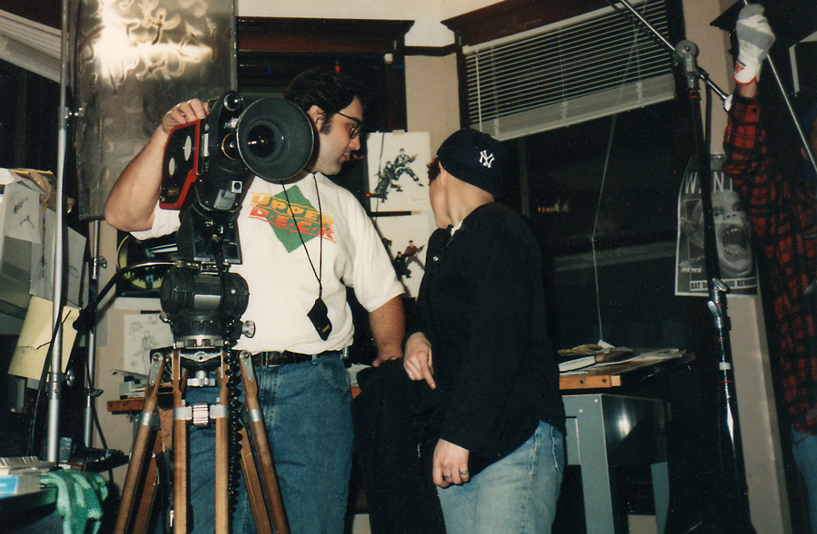On the set of the film Solstice