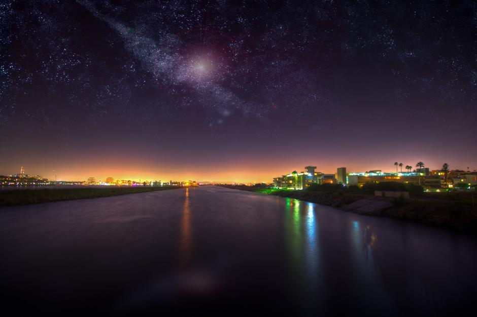 Ballona Creek at night, PLaya Del Rey